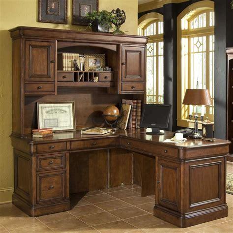 Furniture L Shaped Brown Solid Wood Corner Computer Desk Solid Wood Corner Desk With Hutch