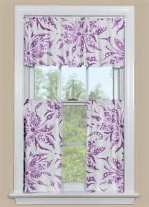 purple kitchen curtains contemporary floral kitchen curtain panel in purple