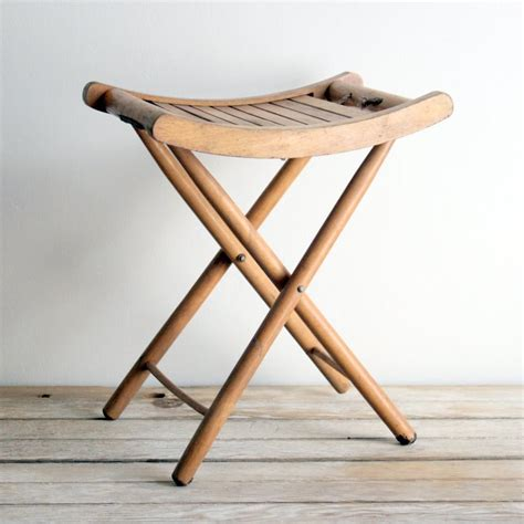 Folding Stool Sale Vintage Wooden Folding Stool