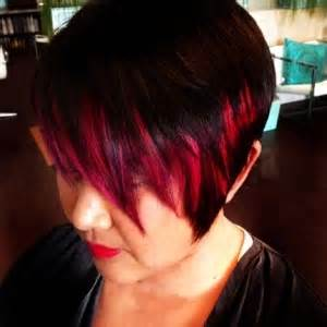 hair color makeover hair color makeover asymmetrical cut with vivid pops of