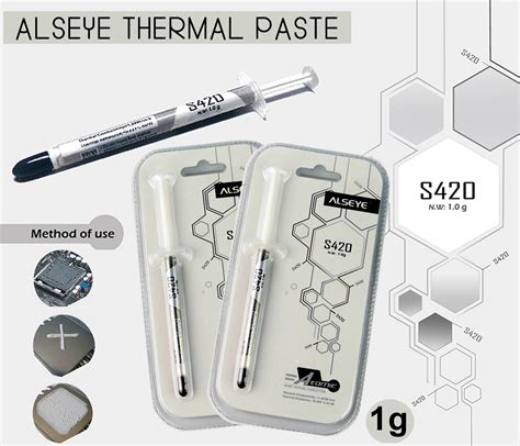Alseye Thermal Paste S420 1gr alseye thermal paste s420 1g sades
