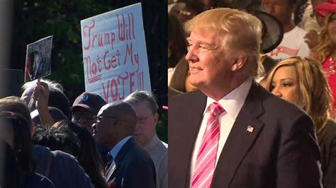 donald trump church protests heat up in detroit as trump courts black voters