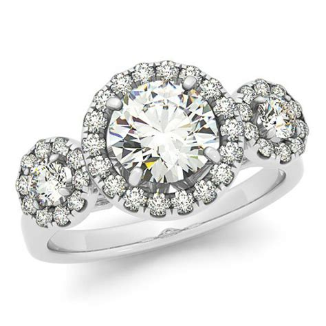 One Engagement Ring by 1 Carat Forever One Moissanite Three