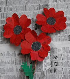 How To Make Paper Poppies - a paper poppy for anzac day poppies remembrance day and