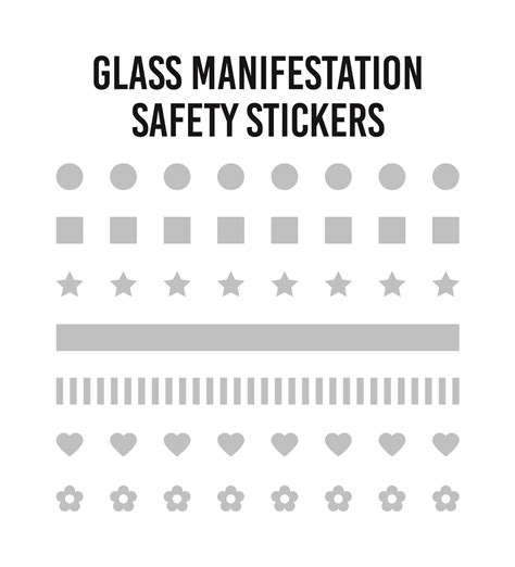 Glass Door Safety Stickers Frosted Glass Safety Window Manifestation Stickers Squares Circles Dots Ebay