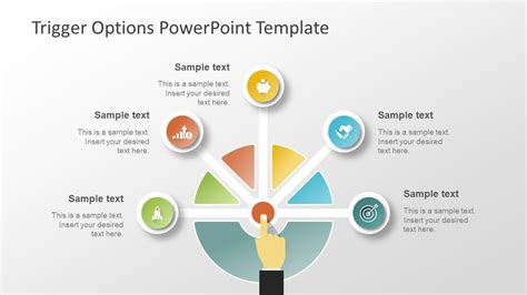 powerpoint design options trigger options powerpoint template slidemodel
