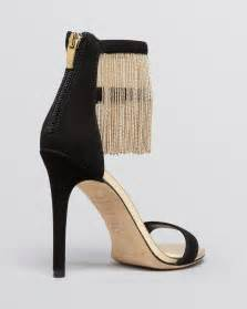 Black And Gold High Heels Qu Heel