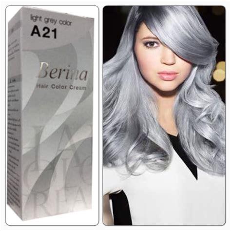 berina hair colour permanent cream hair dye cream light grey silver