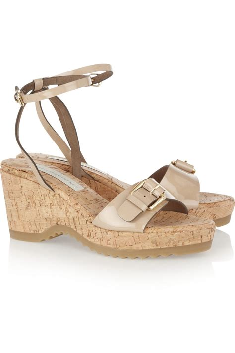 Stella Mccartney Sea Grass Wedges by Stella Mccartney Morgana Faux Patentleather Wedge Sandals