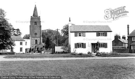 White Cottage St by Bitteswell White Cottage And St S Church C 1960