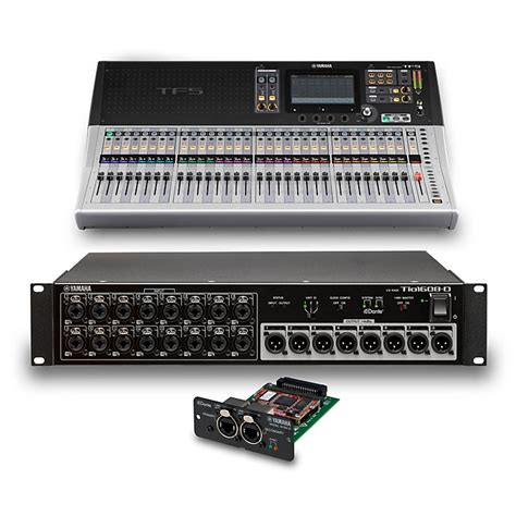 Mixer Digital Yamaha Tf5 yamaha tf5 32 ch digital mixer with tio1608 d dante stage box and expansion card music123