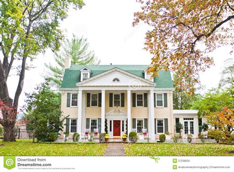 Historic Plantation House Plans by Large American Mansion Stock Photo Image 27238050