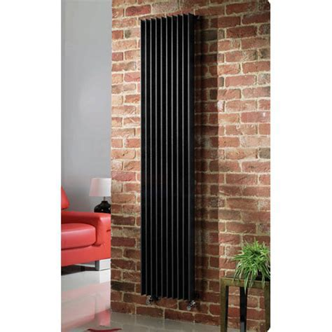 Quinn Adagio Single Column Radiator   Vertical   Black   6