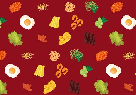 korean pattern background vector korean food pattern download free vector art