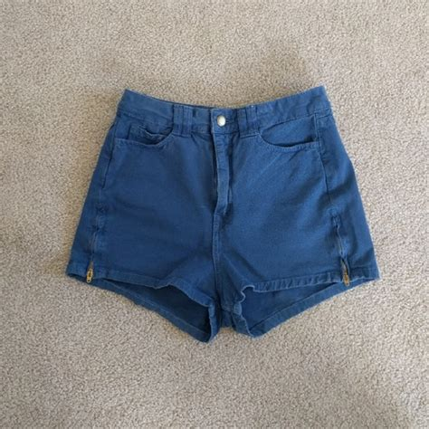 Highwaist Side Zip 27 30 57 american apparel american apparel high waisted side zipper shorts from angie s