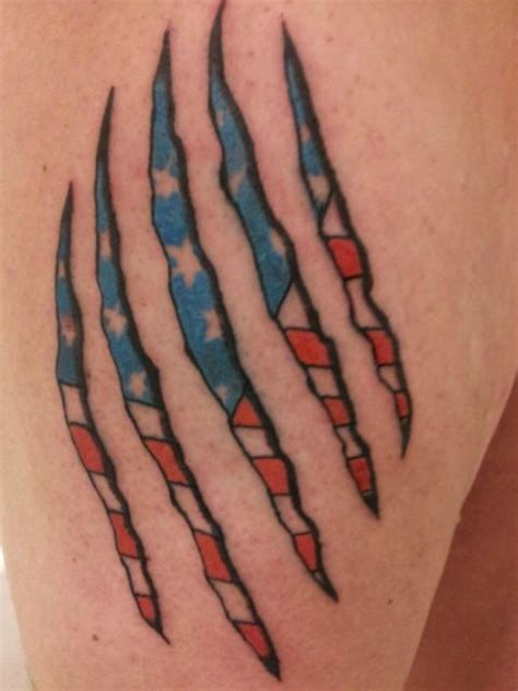 american flag ripping through skin tattoo collection of 25 new american flag ripped skin on leg