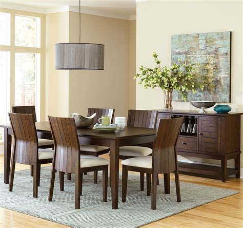 rectangle dining room sets steve silver harlow 8 rectangular dining room set in tobacco cherry beyond stores