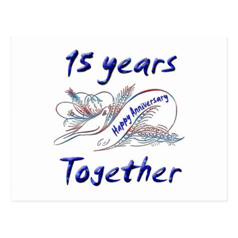 15th anniversary 15th anniversary postcard zazzle