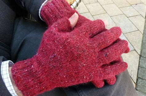 knitted gloves with fingers pattern photography iphone gloves buttons and beeswax