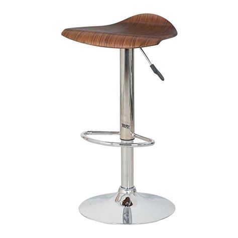 wood and chrome bar stools buy dark wood veneer and chrome bar stool from fusion living