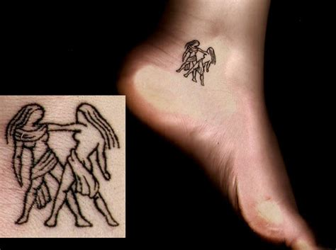 small zodiac gemini tattoo on ankle tattoos book 65