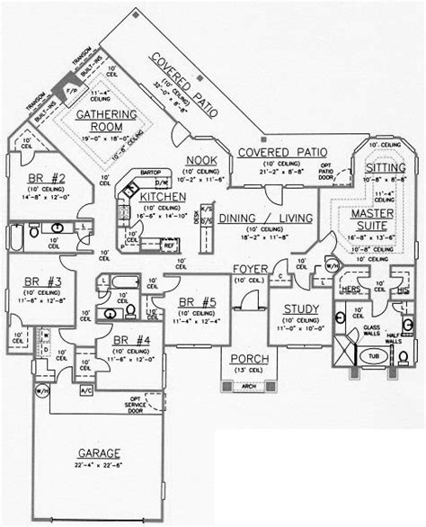 verde ranch floor plan 2780 model ranch house plans with 5 bedrooms