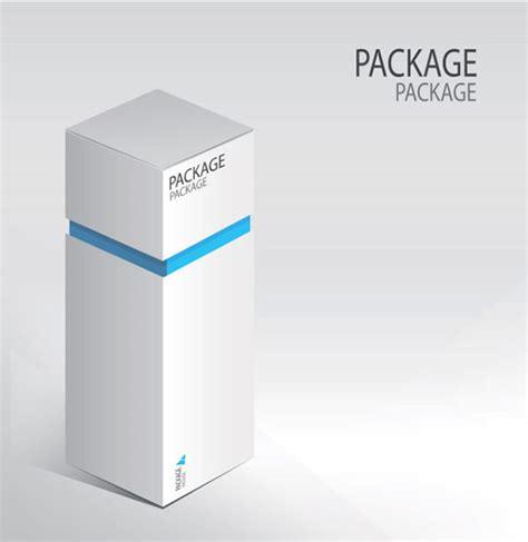 白色香水包装盒矢量图 包装设计矢量图 三联