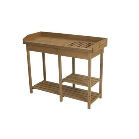 potting bench home depot algreen potting bench table 320041 the home depot