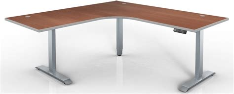 top hat table l hat electric height adjustable table 120 degree corner