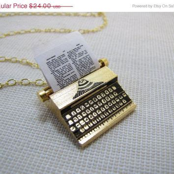 Pokiegold Mellisa Teapot In 18k Gold Plated Necklace 10910 black friday sale typewriter necklace from cuteability on etsy
