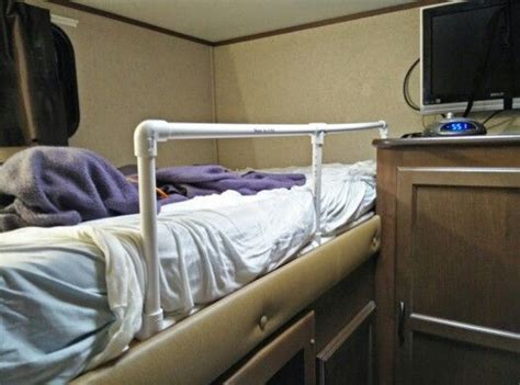 Bed Rail For Bunk Bed Pvc Bunk Bed Rail In Rv Rv Hacks Bunk Bed Rail Rv And Rv Hacks