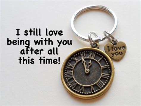 a very unusual clock products i love pinterest quot i love you quot heart charm with bronze clock keychain