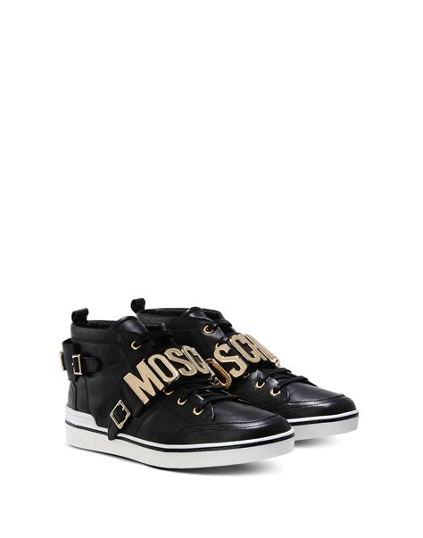 moschino sneakers mens moschino sneakers in black for lyst