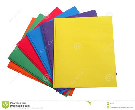 colored folders clipart