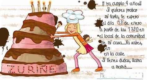 imagenes de invitaciones de cumpleaños graciosas invitaciones de cumplea 241 os personalizadas de quot maria te pinta quot