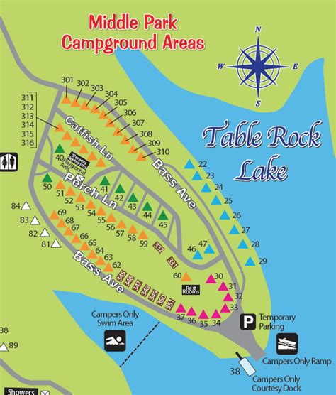 table rock state park map cground port of kimberling