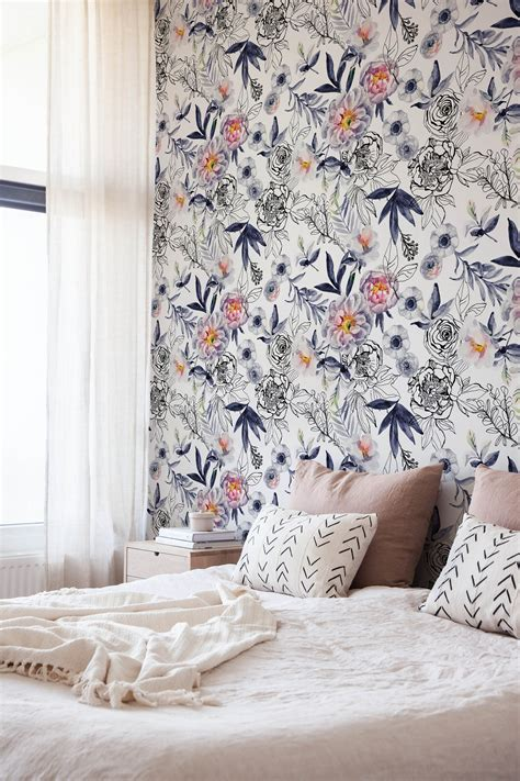 floral wallpaper for walls floral wall mural ideas for girls bedroom design