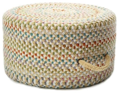 Braided Pouf Ottoman braided color frenzy pouf banana pouf ottoman footstools and ottomans by rugpal