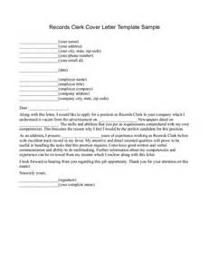 Trade Clerk Cover Letter by Cover Letter For Records Clerk Dailynewsreports395 Web Fc2
