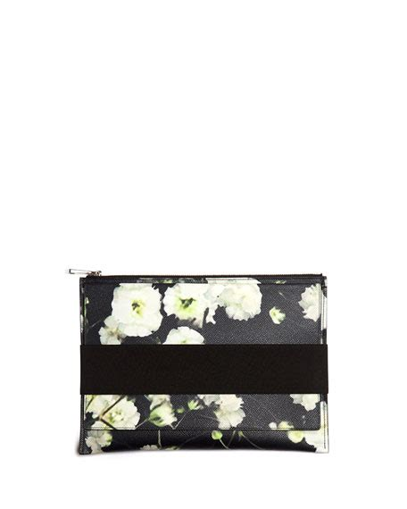Printed Zip Pouch givenchy baby s breath printed zip pouch