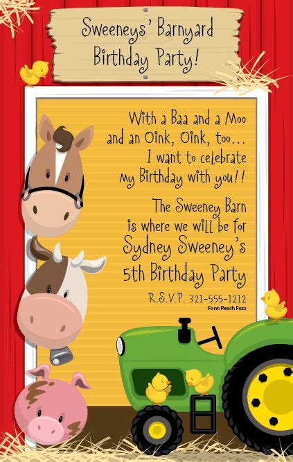 25 best ideas about tractor birthday invitations on