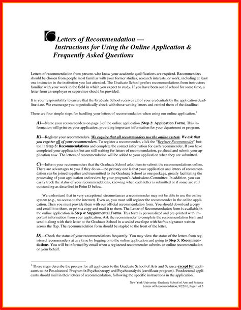 Phd Recommendation Letter Apa Exle Grad School Letter Of Recommendation Template
