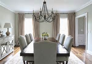 Striped Linen Curtains Dining Room With Built In Sideboard And China Cabinets