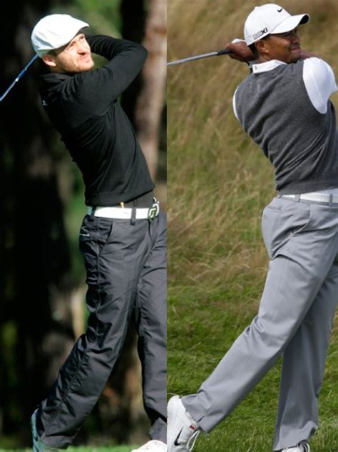 justin timberlake golf swing justin timberlake and tiger woods golf team rest of the