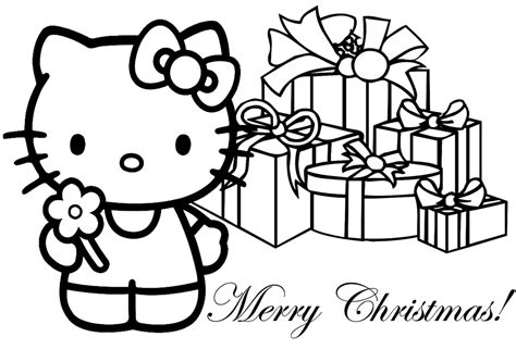 hello kitty christmas coloring pages realistic coloring