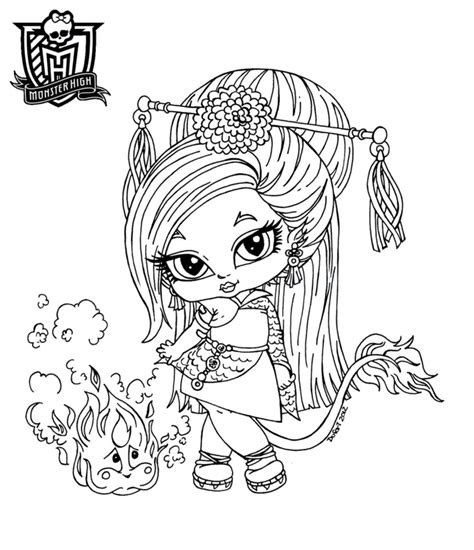 Baby High Coloring Pages by All About High Dolls Baby High Character