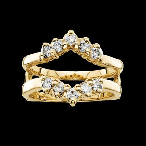 14k Gold Diamond Ring Guard