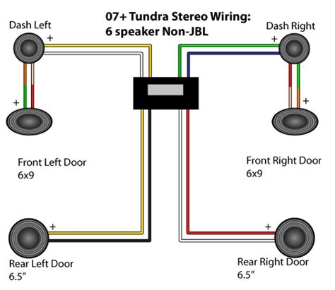 wiring diagram for 6 speakers free wiring