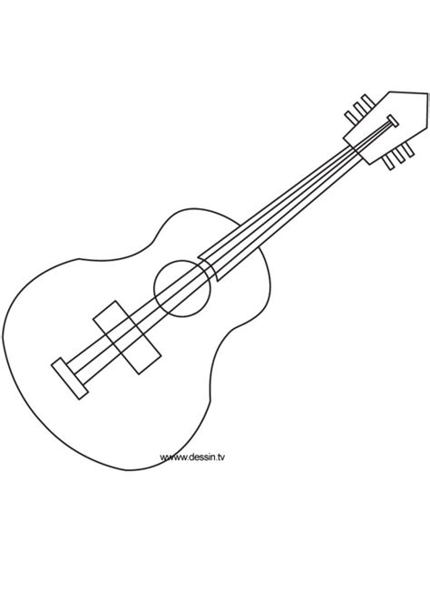 acoustic guitar coloring page handsome acoustic guitar printables guitars sketch