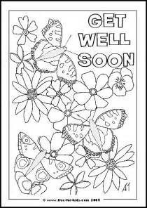 get well coloring pages printable get well soon colouring pages